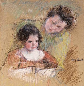 Mary Stevenson Cassatt - Reine Leaning over Margot