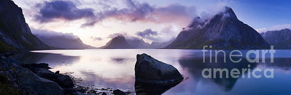 Reinefjorden, Lofoten Islands, Norway. by Justin Foulkes