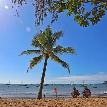 Relaxing on the beach at Horseshoe Bay on Magnetic Island by Keiran Lusk