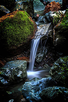 Relaxing Waterfall by Bruce Bottomley