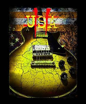 Relic Guitar Music Patriotic USA Flag by Guitar Wacky