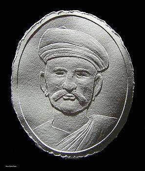 Relief Drawing Of Damodar Hari Chafekar by Suhas Tavkar