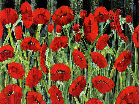 Remembrance Poppies by Diane Dean