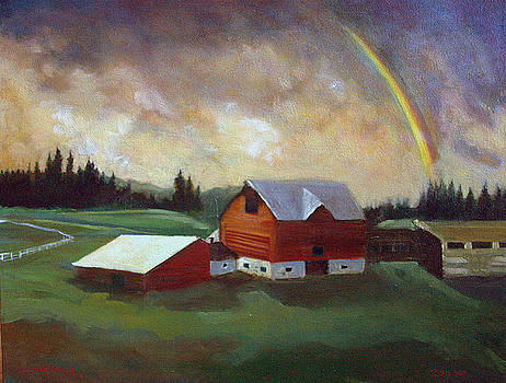 Rem's Old Barn by Jill Iversen