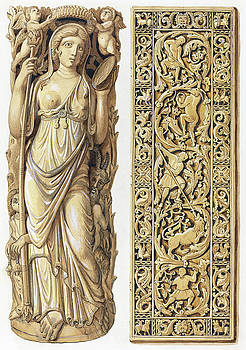 Herman Wilhelm Soltau -  Renderings of an Ivory Carving