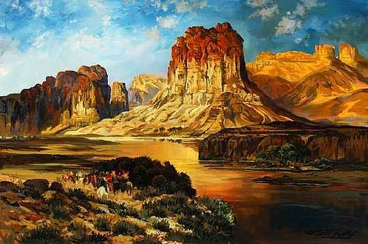 Rendition of The Green River  Thomas Moran by W  Scott Fenton