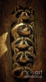 Renegade, Rascal, Rebel, Ricochet and Randy, The Hollow Tree Gang by Putterhug Studio