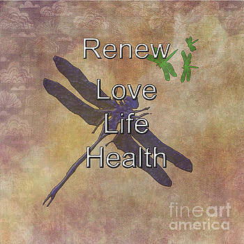 Renew Dragonfly by Judy Hall-Folde