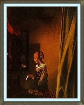 Replica from a work by Vermeer - by Prasanna  Kumar