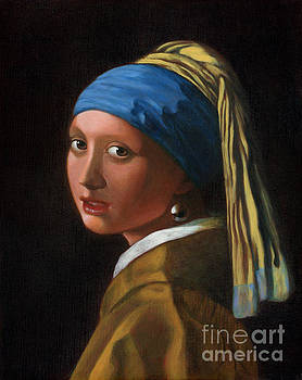 Reproduction - Johannes Vermeer - Girl with a Pearl Earring by Brandy Woods