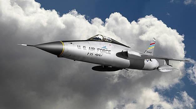 Republic F-105 Thunderchief by Larry McManus