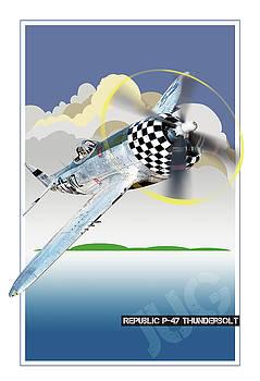 Republic P-47 Jug by Larry McManus