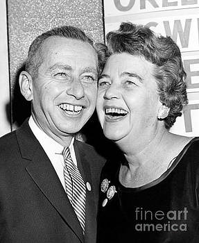 Republican Malcolm Wilson accompanied by his wife Katherine McCloskey 1962. by Anthony Calvacca