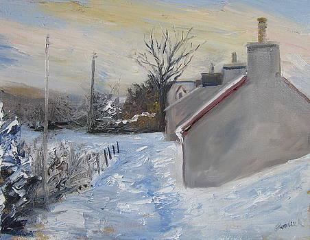 Reraig in the snow by Cindie Reiter