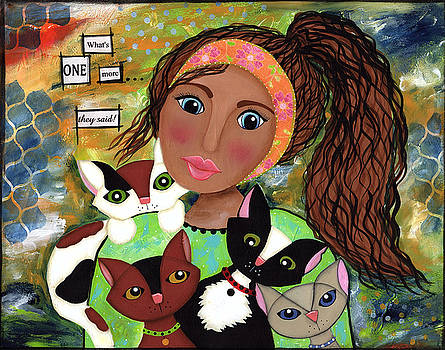 Rescue kitty by Clover Moon Designs Peggy Sowers-Heckman