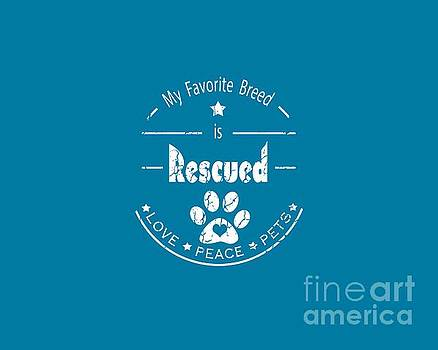 Rescued Love Peace Pets light by Tim Wemple