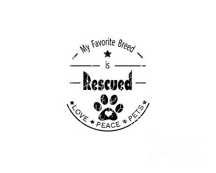 Rescued Love Peace Pets by Tim Wemple
