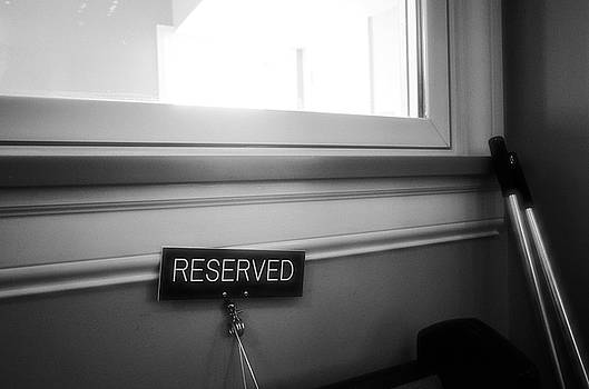 Reserved by Jeanette O'Toole