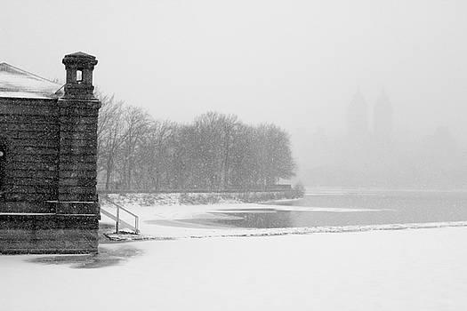 Reservoir Snow Central Park by Dave Beckerman