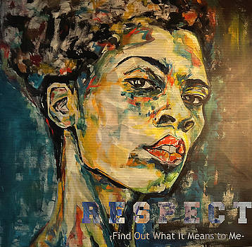 Respect mixed media by Christel Roelandt