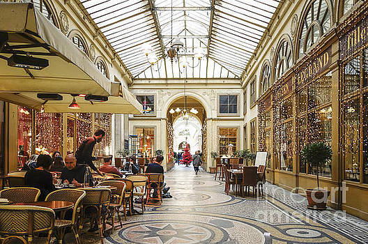 Restaurant at Covered passage Galerie Vivienne, Paris by Perry Van Munster