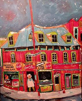 Vintage Restaurant Chez Lise 1963 by Michael Litvack