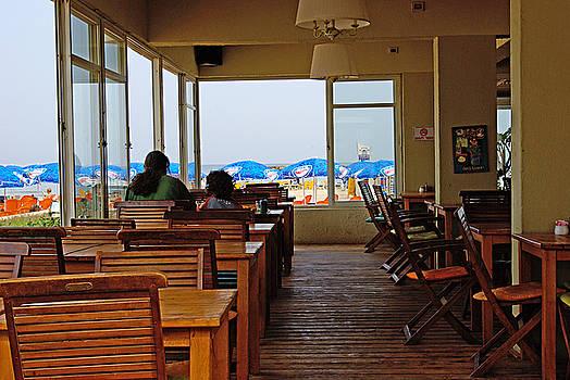 Restaurant on a beach in Tel Aviv Israel by Zalman Latzkovich