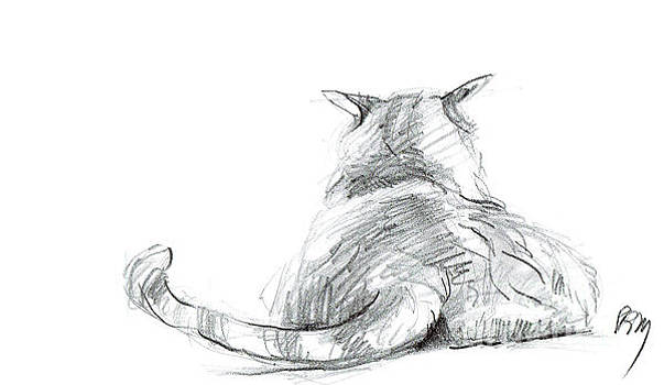 Resting Cat by Paul Miller