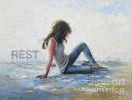 Resting Girl by Vickie Wade
