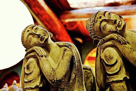 Resting Golden Buddhas by Brian Sereda