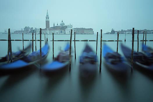 Resting Gondolas, Venice, Italy by David Stanley