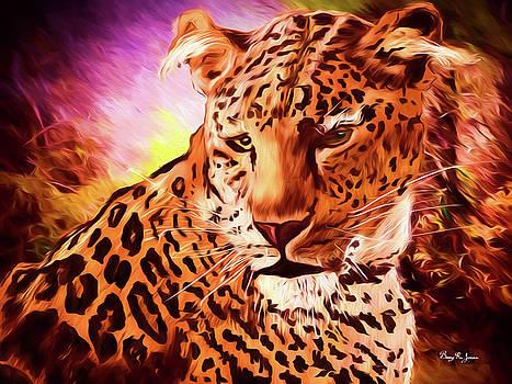 Resting Leopard by Barry Jones