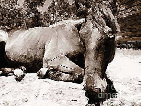 Resting Mare by Paul Wilford