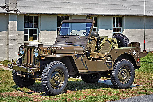 Restored Willys Army Jeep at Fort Miles by Bill Swartwout