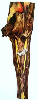 Retablo - Cristo Del Buho by Jesus Alberto Arbelaez Arce