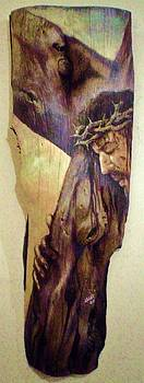 Retablo - Cruz by Jesus Alberto Arbelaez Arce