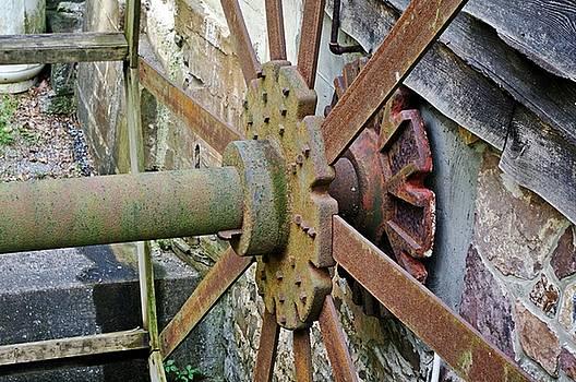 Retired Water Wheel by Stephanie Calhoun