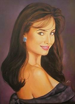 Retrato - Monica Jaramillo by Jesus Alberto Arbelaez Arce