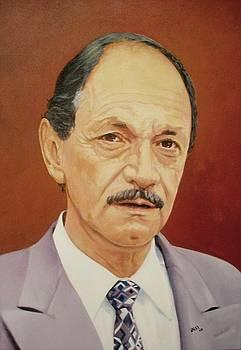 Retrato . Alberto Giraldo by Jesus Alberto Arbelaez Arce