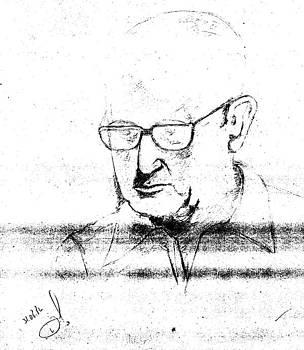 Retrato Carlos Drummond De Andrade by Rakyul - Raul Augusto Silva Junior