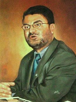 Retrato . Nicolaz Jaramillo by Jesus Alberto Arbelaez Arce