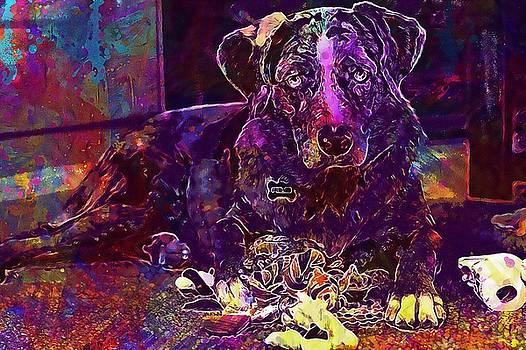 Retriever Dog Canine Sporting  by PixBreak Art