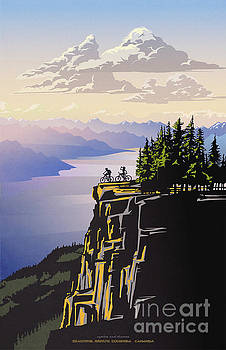 Retro Beautiful BC Travel poster by Sassan Filsoof