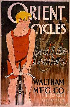 Retro Bicycle Ad 1890 by Padre Art
