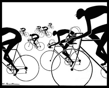 Retro Bicycle Silhouettes 1986 by Padre Art