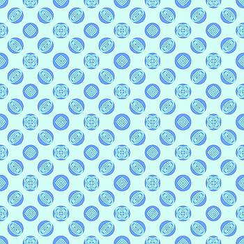 Retro Blue Circle Pattern by BrightVibesDesign