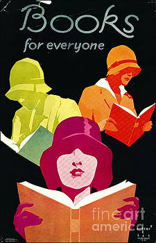 Retro Books Poster 1929 by Padre Art