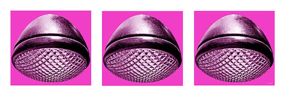 TONY GRIDER - Retro Hot Pink Headlight Trio