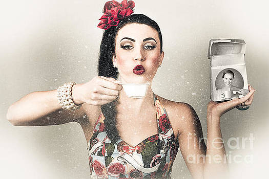 Retro pin up poster girl. Wash and clean service by Jorgo Photography - Wall Art Gallery