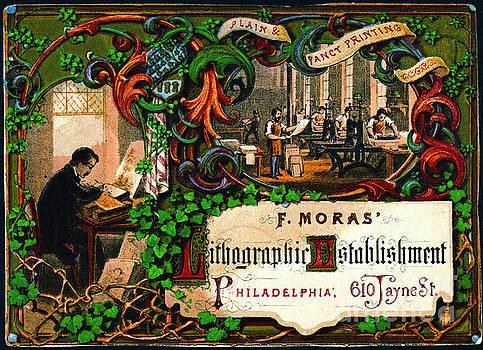 Retro Printing Ad 1867 by Padre Art